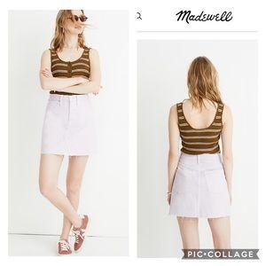 🆕 🌻 Madewell Lilac High Waist Raw Hem Mini Skirt
